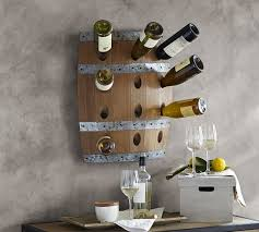 Image Glass Wine Barrel Wall Mount Wine Rack Pottery Barn Wine Barrel Wall Mount Wine Rack Pottery Barn