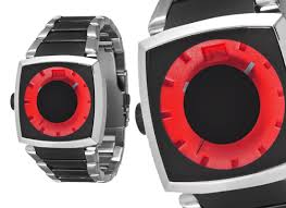 style men s watches 56 for men s style the guage watch black silver band red dial 101822 165 list price