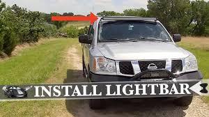 2012 Nissan Frontier Light Bar How To Install An Auxbeam Roof Mount Light Bar On 2007 Nissan Titan