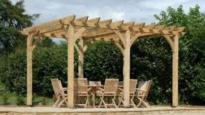 Figure 11 Example of a typical natural wood pergola.
