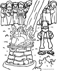 Small Picture Elijah And The Prophets Of Baal Coloring Page Crafting The Word