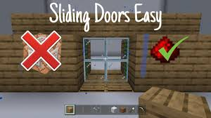 how to make a sliding door minecraft
