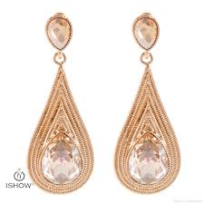 champagne color new water drop wedding earrings women crystal multilayer chain gold color earrings jewelry gift bridal aretes brinco women earring long