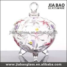 Decorative Glass Candy Jars Crystal candy jar Decorative glass candy pot Colored sugar jar 80