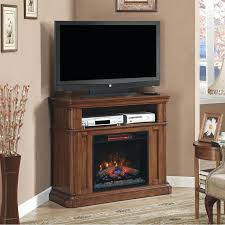 corner electric fireplace entertainment center wood white