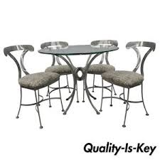 Glass top for table Wooden Details About Shaver Howard Piece Steel Modern Dining Set Round Glass Top Table Chairs Ebay Shaver Howard Piece Steel Modern Dining Set Round Glass Top Table