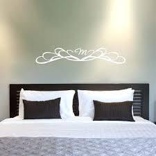 free personalized monogram headboard vinyl wall decal sticker king queen bedroom
