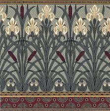 art nouveau fl wallpaper fenway