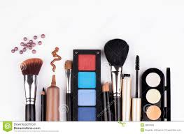 royalty free stock photo makeup brush and cosmetics
