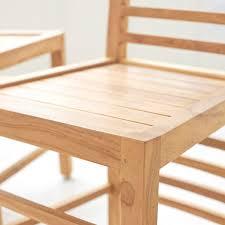 Teak Dining Room Chairs Tikamoon Dining Room Chairs Skyni Tek Nature Teak Dining Chair