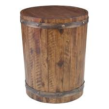 Wood barrel furniture Wine Rack Berkshire Wine Barrel End Table Wayfair Wine Barrel Side Table Wayfair
