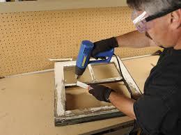 broken glass pane in a wood frame