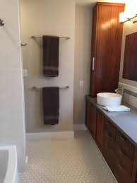 Towel Rack Placement In Bathroom Only Unused Wall In The Bathroom So Stacked The Towel Bars Matte