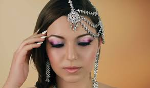 pink indian bridal makeup tutorial stani asian arabic wedding walima enement look you