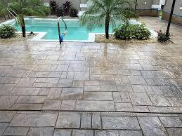 stamped concrete pool patio. Pool Decks \u0026 Patios. Tampa Bay Stamped Concrete Patio L