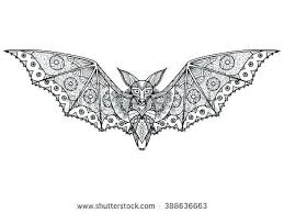 Rouge The Bat Coloring Pages In Bats Vampire Colouring Page