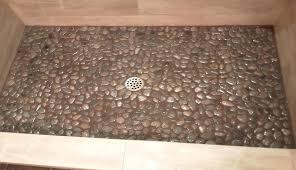 river stone shower floor diy tile x a pebble cobblestone marble