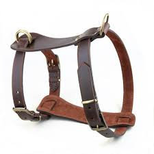 100 handmade genuine leather dog harness step in walking training harnesses vest adjustable for small