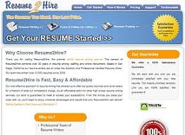 Resume2Hire.com Review | Company's Home Page