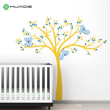 modern koala tree branches wall decal baby nursery wall decor kids room bedroom wall batman wall stickers beach wall stickers from free life04