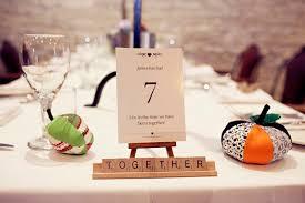 table names wedding.