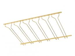 model cmgr 3 coated polished brass channel mounted bar glass rack 3 esp