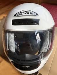 Details About White Zox Jr Large Helmet Full Face Youth Kids Children Atv Motorcycle Dot Cart