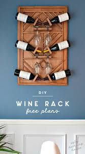 diy plywood art wine rack made from plywood and wooden dowels