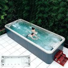 Large Square Above Ground Pool Hot Tub 6 5 J Endless Swim Spa
