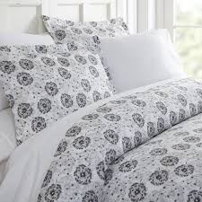 becky cameron make a wish patterned duvet cover set king make a wish light gray