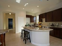 enchanting rounded corner kitchen island with black wooden backless bar  stools also wrought iron 2 tier
