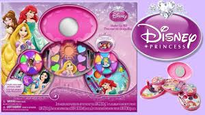 disney princess makeup kit toy unboxing for kids how to make up diy