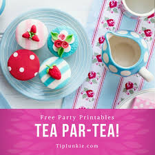 Tea Party Free Printables Darling Tea Party Printables To Par Tea Tip Junkie