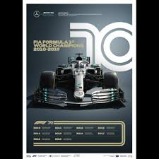 Choose your favorite mercedes f1 designs and purchase them as wall art, home decor, phone cases, tote bags, and more! Mercedes Poster Amg Petronas F1 Team World Champions 2010 2019 Limited Edition Selection Rs