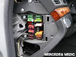 mercedes benz cls fuse list location of interior cabin fuses on a cls w219 2005 2011