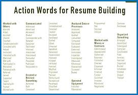 Action Verbs For Resumes Best Action Words For Resumes dnious