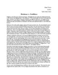 hindu and buddhism essay hinduism and buddhism uk essays