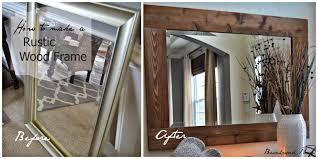 diy wood mirror frame. DIY Wood Framed Mirror Diy Wood Mirror Frame O