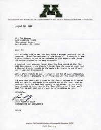 Buy Lou Holtz Signed Letter On University Of Minnesota Letterhead