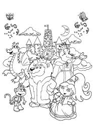 Koko the gorilla black and white coloring sheet. Free Printable Zoo Coloring Pages For Kids