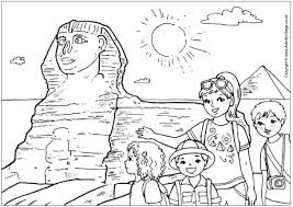 Small Picture The Sphinx Colouring Page