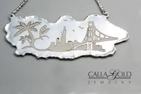a sterling silver custom necklace molten and laser engraved a beloved project