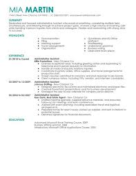 Resume Summary Examples Administrative Assistant