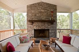 fireplace mantel kits deck transitional with fl pillow metal fireplace screen outdoor living1