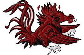 University Of South Carolina Embroidery Designs Gamecock Embroidery Design 3 98 Via Etsy Embroidery