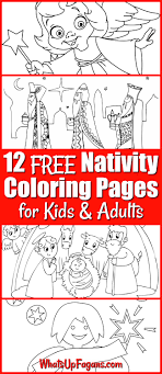 Profile of the virgin with the child. 12 Free Printable Nativity Coloring Pages For Kids