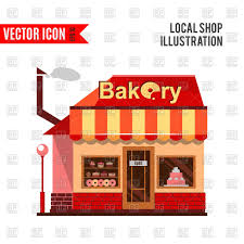 Bakery Building With Cakes Donuts And Pies Vector Image Of