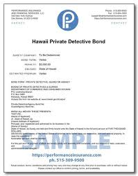 We provide business insurance for special events. Hawaii Private Detective Bond
