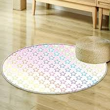 Colorful Living Room Fascinating Amazon Round Rugs For Bedroom House Decor Stars In Rainbow