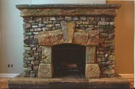 This flagstone fireplace is beautiful and eco friendly.